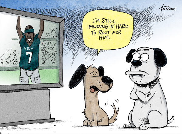 vick600 Rooting for Michael Vick cartoons