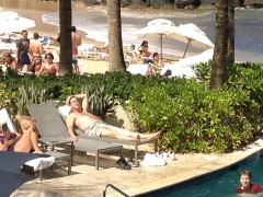 Exclusive Pictures:  Rick Santorum Tanning in San Juan – UPDATED