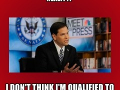 UPDATED: Marco Rubio, a proud science dunce, disqualifies himself for high office