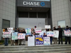 "SEIU trying to pierce Carper's bubble: ""We need jobs not cuts"""