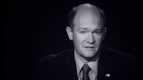 """I, Chris Coons, am the most Israel loving Motherfucker in the whole world!!""  (paraphrase)"