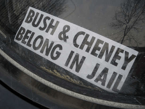 George Bush, Dick Cheney and Tony Blair are still at large