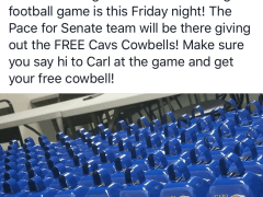 Pace giveaway hits the right note for Cavs fans