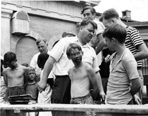 Pie eating contest in Lewes on July 4, 1950. http://www.archives.delaware.gov/100/ourtraditions/Eating_His_way_to_Victory!.shtml