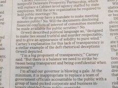 "Carney Excoriated in NJ Letters – ""Preposterous and Embarrassing"""