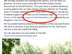 Bill Powers appears to devote New Castle County resources to campaign